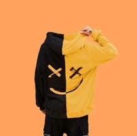 Used Men's Black & yellow trendy Hoodie in Dubai, UAE
