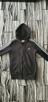 Used Adidas 3 stripe zip hoodie Medium in Dubai, UAE