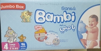 Used BAMBI BABY DIAPER 96 PIC SIZE 4 in Dubai, UAE