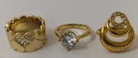 Used 21 kt gold plated rings size 6 to 7 new in Dubai, UAE