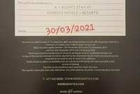 Used 4 address hotel vouchers in Dubai, UAE