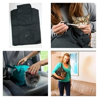 Used Cat Carrier pouch Black NEW in Dubai, UAE