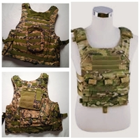 Used Safety Travel Camouflage vest + pockets in Dubai, UAE