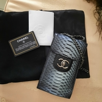 Used Authentic Chanell CC Python Phone Pouch in Dubai, UAE