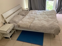Used King Size Bed with Bedside Tables in Dubai, UAE