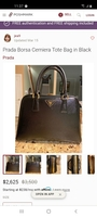 Used Parada borsa cerniera tote bag in black in Dubai, UAE