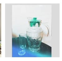 Used Glass Jug with two glasses in Dubai, UAE