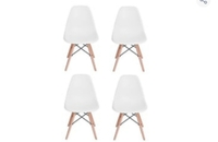 Used Plastic dining chair 4pcs in Dubai, UAE