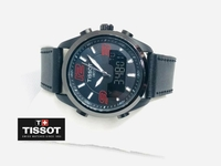 Used Tissot sports watch-leather strap black in Dubai, UAE