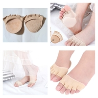 Used Invisible Toe socks khaki 2pcs in Dubai, UAE