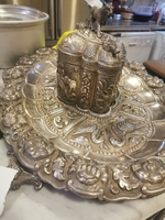 Used Real silver Antique tray with box in Dubai, UAE