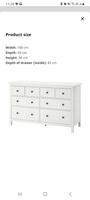 Used خزانة ادراج بيضاءWhite Drawer Chest IKEA in Dubai, UAE