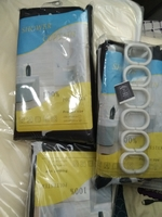 Used shower curtain 3pcs+ shower mat 2pcs in Dubai, UAE
