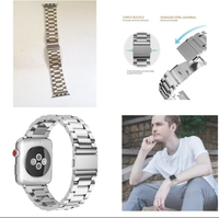 Used Apple Stainless steel watch Band NEW♤ in Dubai, UAE