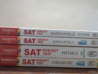 Used SAT's Guide Books (Maths, Chem,Phy) in Dubai, UAE