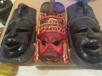 Used Authentic African Wooden Masks in Dubai, UAE