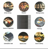 Used Teflon Non-Stick Barbecue Mat 6pcs+Gift in Dubai, UAE