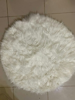Used White Rug D85cm in Dubai, UAE