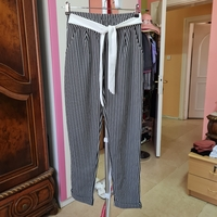 Used PRENSES size M stripes pants with belt in Dubai, UAE