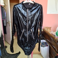 Used Synthetic leather body suit size S/M in Dubai, UAE