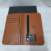 Used Phone Charging Leather Wallet (New) in Dubai, UAE