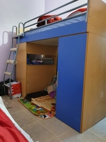 Used Bed With storage and table in Dubai, UAE
