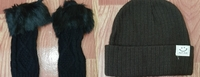 Used Soft hat and hand fur gloves ! in Dubai, UAE