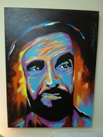 Used Portrait Painting of H.H Sheikh Zayed in Dubai, UAE