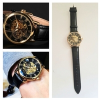 Used Mens Wrist Watch with Leather Straps in Dubai, UAE