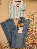 Used New Zara jeans and shirt for 8-10 yrs in Dubai, UAE