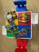 Used Kid's Table with 2 Chairs & 700pcs Legos in Dubai, UAE