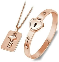 Used Golden bracelet with key and chain in Dubai, UAE