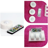 Used 3 LED puck lights, with remote control in Dubai, UAE