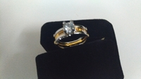Used Round ring size 20 silver and gold plate in Dubai, UAE