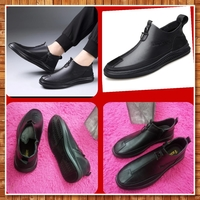 Used Men's Leather Shoes zipper shoes size 40 in Dubai, UAE