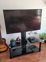 """Used 49"""" LG UHD Smart TV with stand and box in Dubai, UAE"""