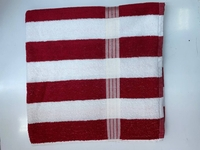 Used Beach Towel Red Strip Size 30*60 inches in Dubai, UAE