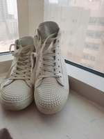 Used White shoes with inner heels in Dubai, UAE