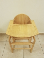 Used 3 in 1 wooden high chair with Tray. in Dubai, UAE