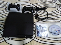 Used Ps3 console Slim with2 remotes like new in Dubai, UAE