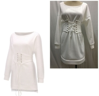 Used White dress for her M size in Dubai, UAE