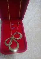 Used engraved drop shaped necklace New in Dubai, UAE