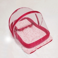 Used Baby Sleeping Bed With Mosquito Net Pink in Dubai, UAE