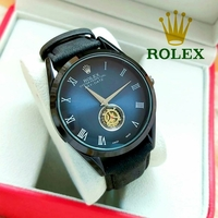 Used RolexLeather strap watch stainles steel in Dubai, UAE