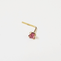 Used 14K Solid Gold 2mm Square Pink CZ stud in Dubai, UAE