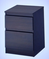Used Cabinet With 2 Drawers Brown Black in Dubai, UAE