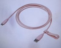 Used USB Charger Cord Type C Textile Pink in Dubai, UAE