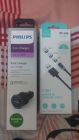 Used Philips car charger and 3 in 1 Cable in Dubai, UAE