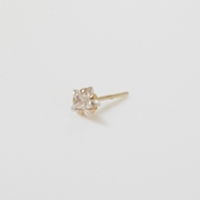 Used 14K Solid Gold 3mm Star CZ Pin Nose Stud in Dubai, UAE