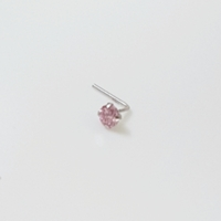 Used 14K Solid White Gold 3mm Pink CZ Stud in Dubai, UAE